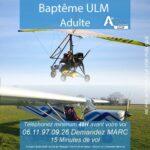 Baptême de l'air ULM Adulte à royan avec Airocéan école de pilotage ULM