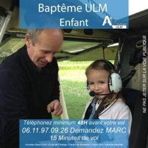 Baptême de l'air ULM enfant à royan avec Airocéan école de pilotage ULM