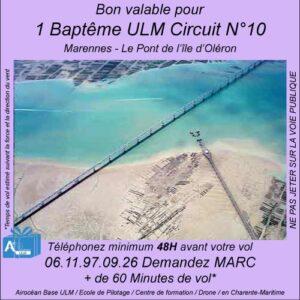 Baptême de l'air ULM Marennes - Le Pont de l'Ile d'Oléron avec Airocéan école de pilotage ulm et centre de formation de pilote ULM à Corme-Ecluse
