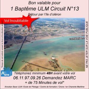 aptême de l'air ULM ile d'Oléron avec Airocéan