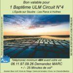 Baptême de l'air ULM à L'Eguille sur Seudre