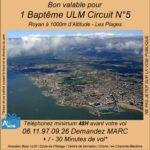 Baptême de l'air ULM Royan 1000m Circuit N°5