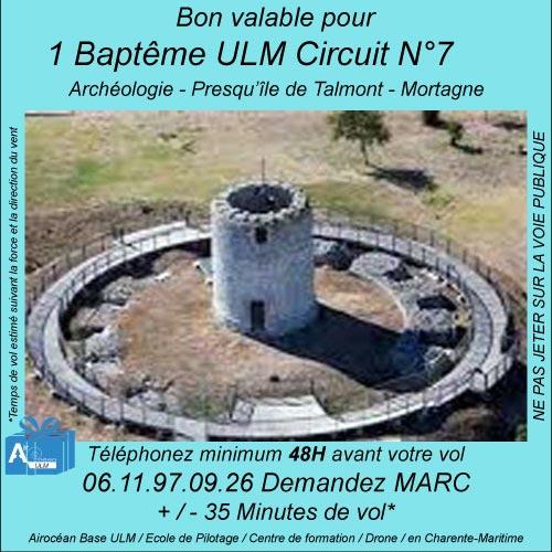 Baptême de l'air ULM à Archéologie -presqu'ile de Talmont - Mortagne avec Airocéan école de pilotage ulm