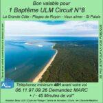 Baptême de l'air ULM à La grande côte Les plages de Royan - Vaux s/ mer - St. Palais avec Airocéan école de pilotage ulm