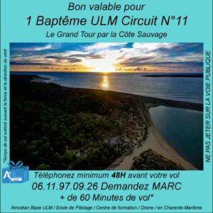 baptême de l'air ULM Le grand tour par la côte sauvage-