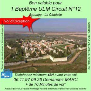 baptême de l'air ULM brouage et sa citadelle